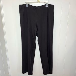 Eileen Fisher Wide Leg Pull On Pants Viscose